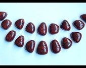16 PCS African Red Stone Gemstone Cabochon,165g