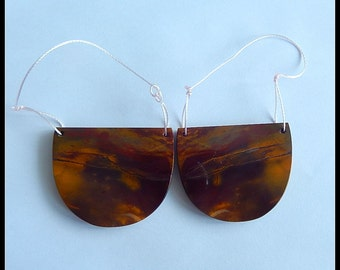 New,Mookite Jasper Gemstone Earring Bead,38x31x4mm,21.1g