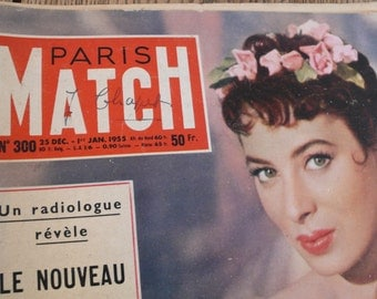 1955 French magazine, Mid century adverts, original posters, hollywood images, vintage advertisements, scrapbooking picture, mixed media art