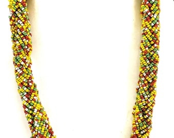 Beaded Rope Necklace Seed Beads Chad Africa 35 Inch 104139 SALE WAS 99