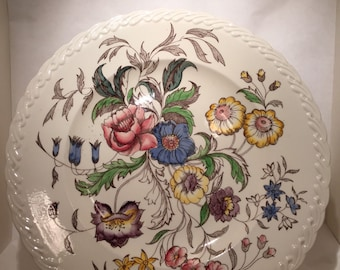 Vernon Kilns May Flower Large Chop Plate