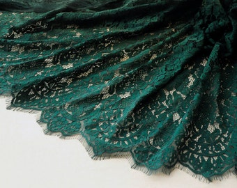 1.5 meter long 1.4 meter dark green eyelash mesh fabric lace trim ribbon tapes 4762 1024 free ship