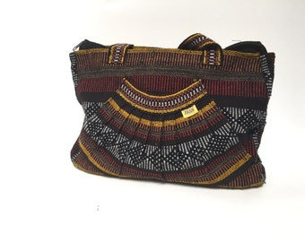 guatamalen SOUTHWEST ikat style BRIGHT purse extra large TOTE bag