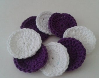 Reusable Crocheted Cotton Facial Scrubbies Set of 8