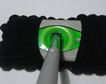 Reuseable Black Cotton Kitchen Swifter Cleaner Mop Cover
