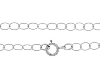 Sterling Silver 3.8mm 18 Inch Twisted wire Circle Link  Chain - 5pcs 25% Discounted Price (2741)/5