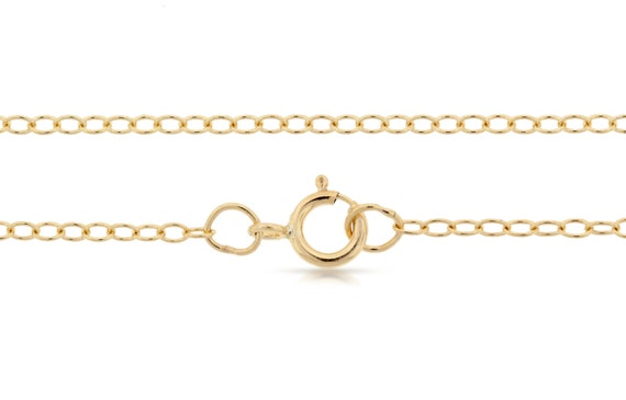 Finished Chains with spring ring clasp 14Kt Gold Filled 2x1.6mm 22 Inch Cable Chain - 1pc (2796)/1