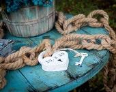 Wedding Table Decor Engraved Heart Lock / love lock and key to my heart . heart padlock