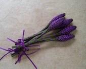 Lavender Wands - Purple Ultra Thin Satin Ribbon