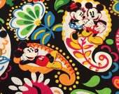 Vera Bradley fabric Disney Midnight with Mickey 9 X 18 inches or 18 X 18 inches