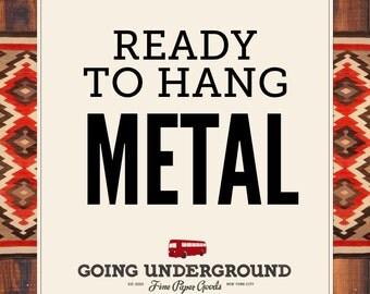 Ready to Hang Metal Print, Subway Sign, Typographic Art, Wedding, Anniversary Gift, Engagement