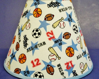 Sport Balls Basketball Football Baseball Soccer Lamp Shade