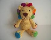 Crocheted Stuffed Amigurumi Plush Toy Lion