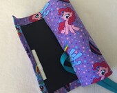 My Little Pony Chalkboard Mat Roll with chalk holder for Kids Travel Activities and Games 9 x 12 Girls Ponies print Horse Purple Pink