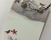 Pearl Snowball earrings