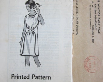 Vintage 60s Wrap Dress Pattern 4829 Sz Small Easy Sew Two Main Pattern Pieces Mail Order Anne Adams