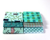Quiltsy Destash Party - Aqua Teal Fabric Bundle by Cotton and Steel - Modern Fat Quarters - 6 Fabric Bundle
