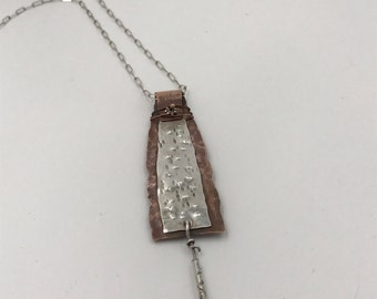 Sterling Silver and Copper Necklace | The Bleu Giraffe