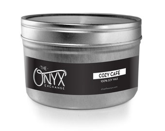Cozy Café Candle - 4 oz. Tin Soy Wax Candle - Peppermint Mocha Scented