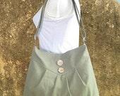 On Sale 10% off Olive green cross body bag / messenger bag / shoulder bag / diaper bag  - cotton canvas