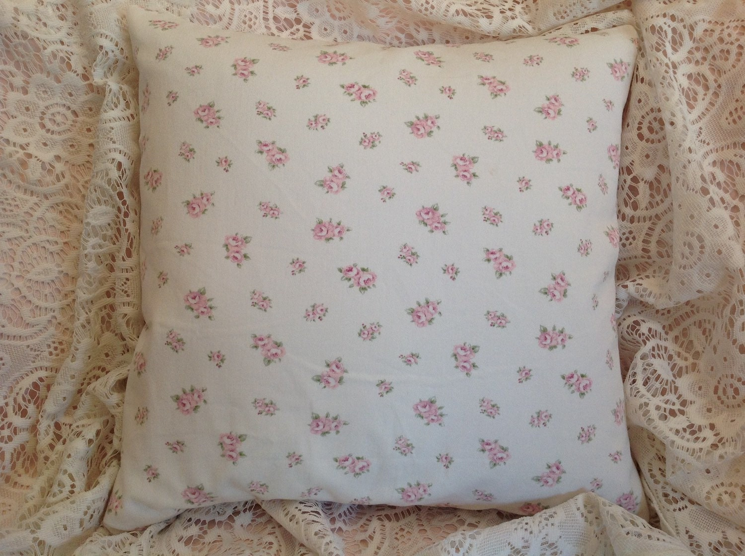Shabby Chic Pillow cover Darling pink and by rosesofyesteryear