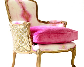Pink Opal French Chair
