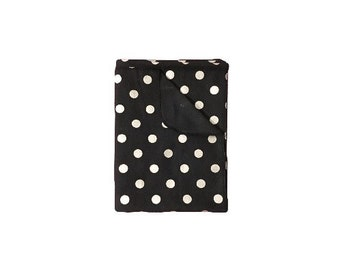 Black & Silver Polka Dot Receiving Blanket