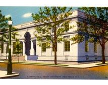 BROWN UNIVERSITY, Marston Hall, Providence Rhode Island Vintage Unused Postcard