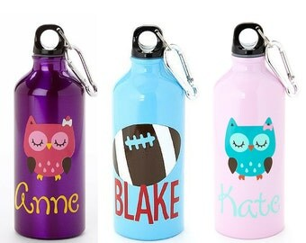 Personalized Aluminum Water Bottle- 20oz, Personalized Stainless Steel Water Bottle, Kids Water Bottle- Great Party Favor