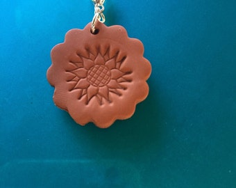 Sun or Sunflower Polymer Diffuser Charm, Pendant or zipper pull