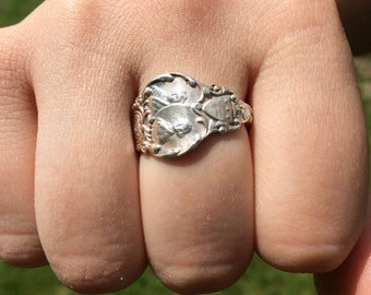 Spoon Ring Sterling - Size 9.5 George Washington
