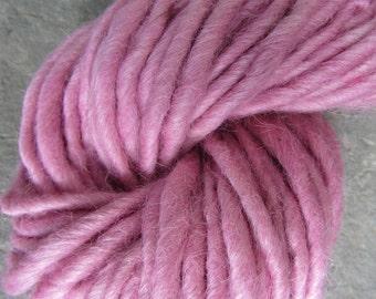 Handspun Yarn Suri Alpaca Bulky Ballet Pink