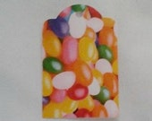 Up Cycled OOAK Jelly Beans Easter Gift Tags... Set of 4