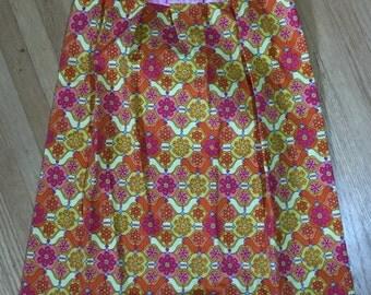 Girls Dress, Girls Pink, Yellow, Orange Dress - Sample Sale