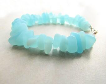 Seaglass Bracelet, Sea Glass Bracelet, Seaglass Jewelry, Beachglass Bracelet, Beach Wedding, Ocean Bracelet, Sea, Waves, Mermaid, Beach