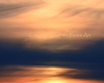 Nature Photography Sunset Pacific Northwest Paintbrushed Skies Greeting Card Blank Inside
