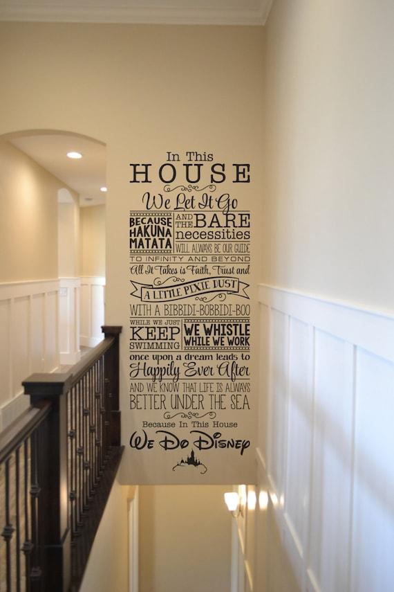 In This House We Do Disney Bm544 Vinyl Wall Lettering Sticker