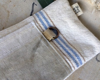 DRING - reconstructed postal and grain sack hip pouch