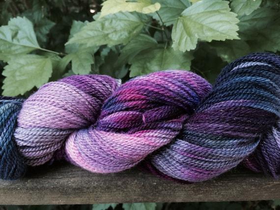Speckled Sock Yarn, Sparkle Merino, Nylon Hand Dyed Sock Yarn, Hand Dyed, Merino