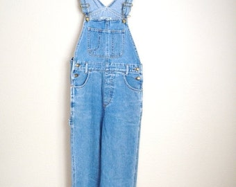 STOREWIDE 15% off SALE - Vintage 80s Denim Jean Carpenter Overall Dungarees// womens small