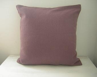 "Plain Mulberry / Plum Coloured Handmade Cushion Cover 17"""