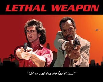 Classic Movie No.5 - Lethal Weapon (A2 poster)
