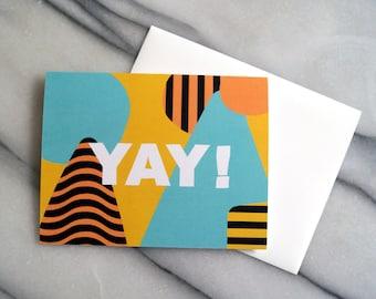 YAY card - blank inside