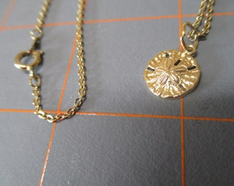 Vintage Sand Dollar Pendant With Chain