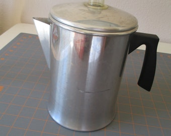 Vintage Aluminum Coffee Percolator/Pot, Stove Top, Camping