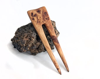 COTTONWOOD Burl & DESERT IRONWOOD Hair Fork - 2 Prong