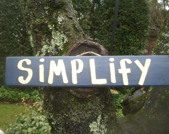 SIMPLFY - Country Primitive Rustic Wood Handmade Pool Hot Tub Sign Plaque
