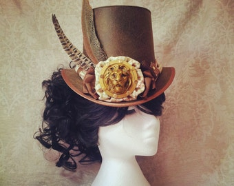 Steampunk hat, Full Size Top Hat, Mad Hatter hat, Top Hat, Custom Top Hat, Pirate Hat, Cosplay hat, Steampunk Wedding, Festival Hat