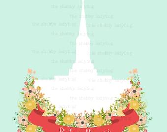 St. Louis, Missouri LDS Temple Instant Download 8x10