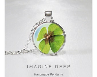 BUY 2 GET 1 FREE Four Leaf Clover Pendant Necklace Lucky Clover High Quality Handmade Silver Copper Pendant -  Four Leaf Clover (093)